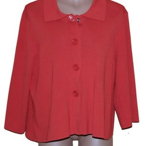 Cable & Gage Women's Plus Size 1X Cardigan